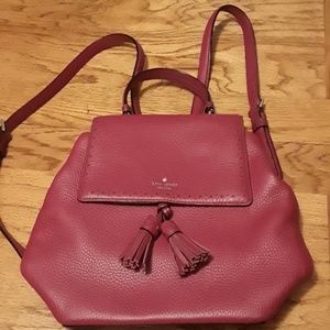 New Kate Spade red leather hobo purse